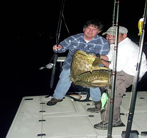 Fishing guide with jewfish